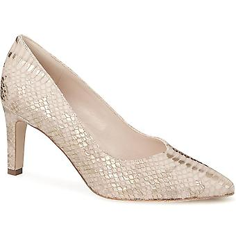 Snake effect leather courts - heel
