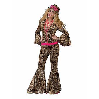 Combinaison Panther Wild Cats Costume Women's 70s Jumpsuit Leopard Women's Costume