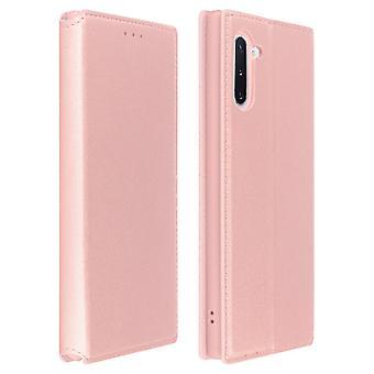 Estojo Slim, Classic Edition stand caso com slot para cartão Samsung Galaxy Note 10 Rose