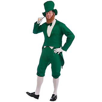 Day Oktoberfest irlandais farfadet Saint Patrick Party Dress Up hommes Costume STD