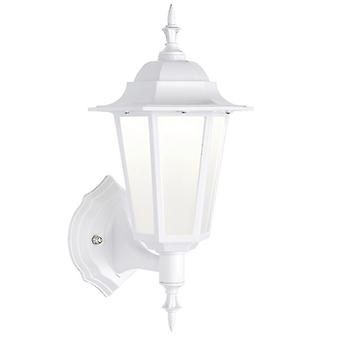 Saxby Lighting Evesham Integrado LED 1 Luz Linterna de Pared al Aire Libre Matt Blanco Texturizado, Esmerilado IP44 78618