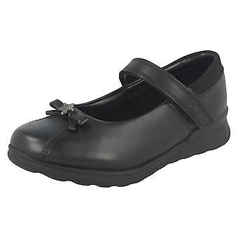Meninas Gloforms pela escola de guarnição arco Clarks Shoes Mariel desejo Inf