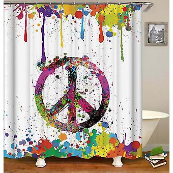 Riot Of Colors Peace Shower Curtain