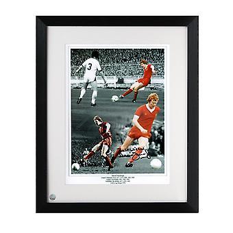 David Fairclough Signé Liverpool Photo Encadré