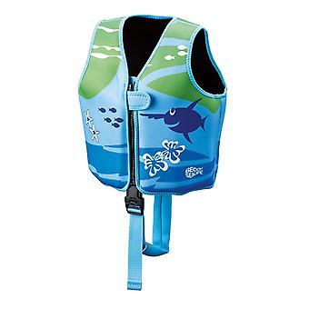 BECO Sealife Swimming Vest - Blue/Green-Medium