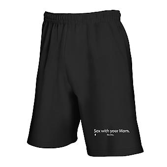 Black tracksuit shorts trk0454 sex mom