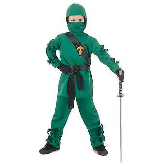 Ninja Green Fox Assassin Stealth Japanese Asian Warrior Book Week Boys Costume