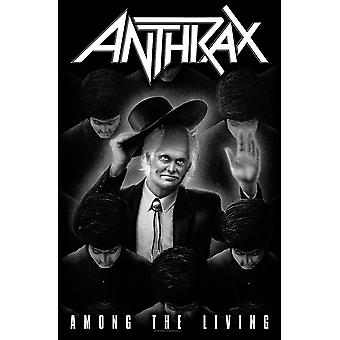 Anthrax Poster Among the Living band Logo new Official Textile Flag 70cm x 106cm