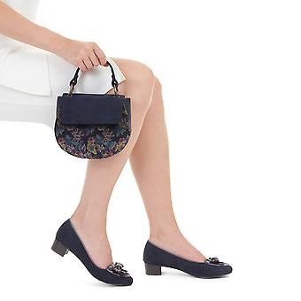 Ruby Shoo Victoria Black Loafer Pumps & Matching Acapulco Bag & Geneva Purse