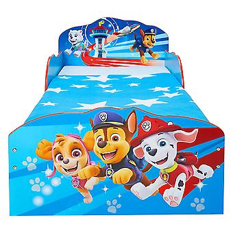 Paw Patrol wooden bed with storage containers