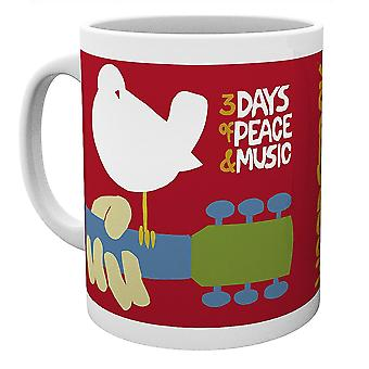 Coupe Woodstock 3 Days of Peace blanc, imprimé, 100% céramique, capacité approximative ment 275 ml.