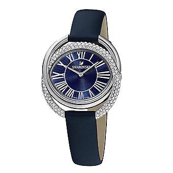 Kijken Swarovski 5484376-DUO lederen armband de veau Bleu Bo tier stalen ringen Entrem l s kristallen Sertis micro-Pav vrouwen