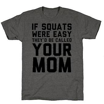 Si les squats étaient faciles au fusain t-shirt