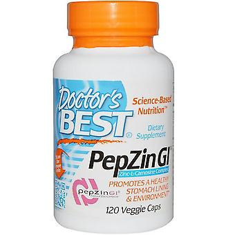 PepZin GI- Complexo zinco-L-Carnosine (120 Veggie Caps) - Doctor's Best
