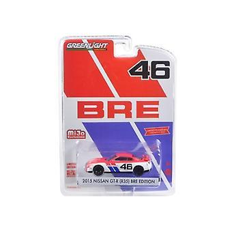 2015 Nissan GT-R R35 #46 BRE Edition Limited à 4600pc 1/64 Diecast Model Car par Greenlight