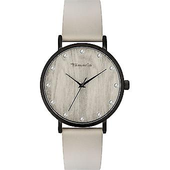 Tamaris - Wristwatch - Alva - DAU 38mm - Matte black - Ladies - TW033 - grey black