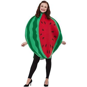 Wassermelone Kostüm Erwachsene rot / grün