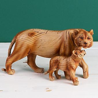 Widdop Bingham Wood Effect Resin Tiger & Cub