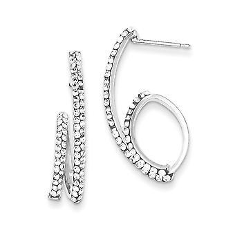 925 Sterling Silber Aufklappe Post Stellux Kristall Baumseider Post Ohrringe Schmuck Geschenke für Frauen