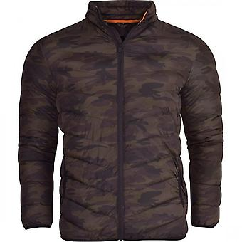 52_DNM Mens Bubble Coat Quilted Padded Puffer Jacket Outdoor Field Bomber Without Hood