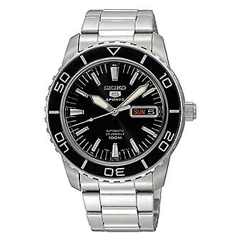Seiko 5 Sports Automatic Black Dial Stainless Steel Men's Watch SNZH55K1