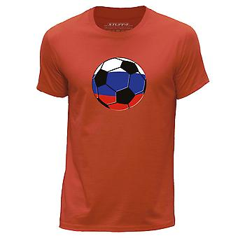 STUFF4 Hommes rond Neck T-shirt-T-Shirt/Russie/Russie Football/Orange