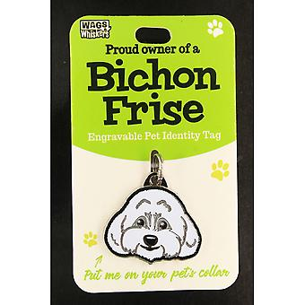 Wags & Whiskers Pet Identity Tag - Bichon Frise