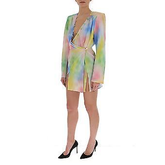 Attico 201wca43p026091 Kvinnor&s Multicolor bomullklänning