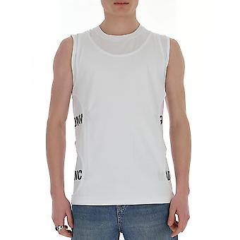 Les Hommes Lit231700p1009 Men's White Cotton T-shirt