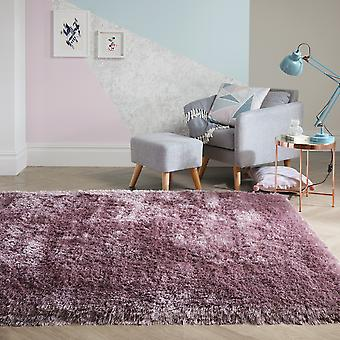 Pearl Shaggy Rugs In Mauve