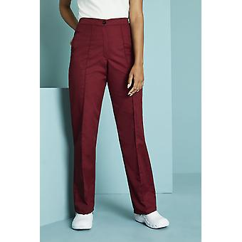 SIMON JERSEY Women's Flat Front Trousers, Burgundy