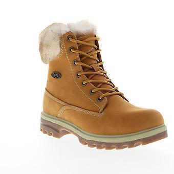Lugz Empire HI Fur  Mens Brown Nubuck Casual Dress Boots Shoes