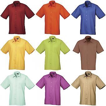 Premier Mens kort ärm formella Poplin oformaterad Arbetsskjorta