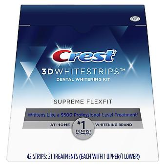 Crest 3d whitestrips suprême flexfit dents kit de blanchiment, bandes, 42 ea