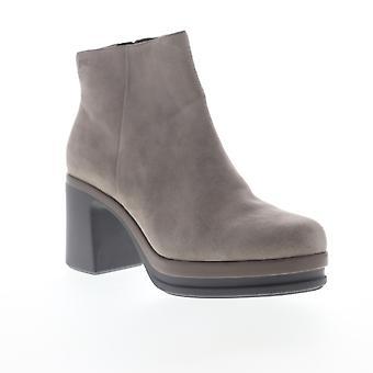 Camper Alice  Womens Gray Suede Heels Zipper Pumps Shoes