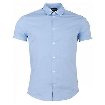 ארמני שרוולים קצרים Poplin צבעוני חולצה