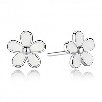 Silver Earrings Daisy White - 6496