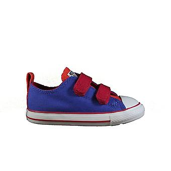 Converse Chuck Taylor All Star 2V 747704C Purple Canvas Childrens Unisex Rip Tape Sneaker Shoes