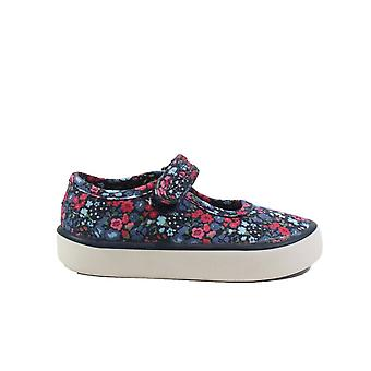 Startrite Navy Floral Canvas Girls Rip Tape Mary Jane Chaussures