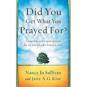 Did You Get What You Prayed For by Sullivan & Nancy Jo