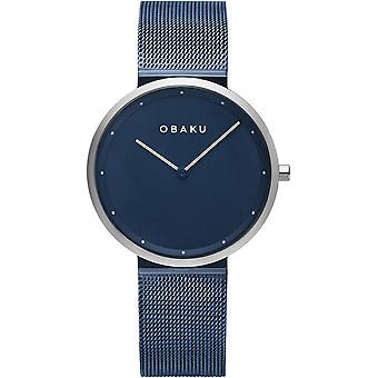 Obaku Papir Lille Arctic Blue Tone Women's Wristwatch V230LXHLML