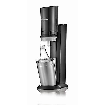 SodaStream Crystal 2,0 Action Pack vodné bubliny, titán + 1 sklenená karafa 0,6l + CO2 valec