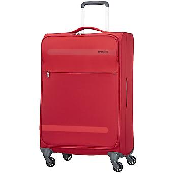 American Tourister Unisex Red Soft side 4 Wheel 67cm Medium Case
