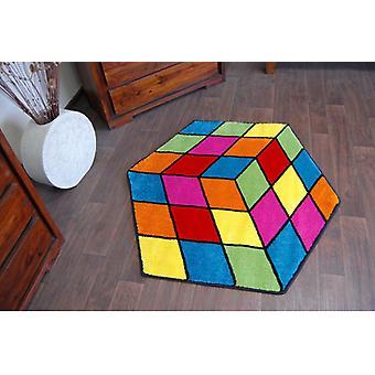 Rug PAINT hexagon - 1546 blue