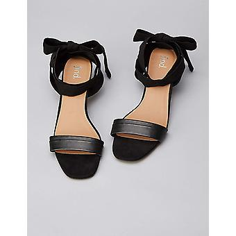 find. Women's Tie Up Sandal, Black, US 8.5
