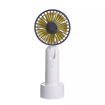 Portable table fan with removable base - White