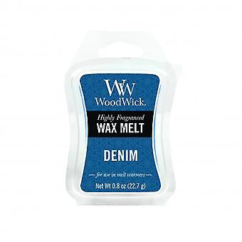 WoodWick tuoksuva mini tiimalasi vaha sulaa denim