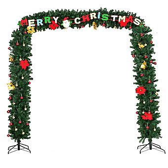 2.74M Artificial Christmas Tree Arch Green Decoration LED Light Luxury Xmas