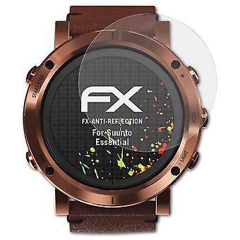 atFoliX Glass Protector compatible with Suunto Essential Glass Protective Film 9H Hybrid-Glass