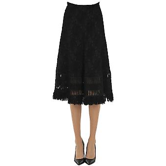 Ermanno Scervino Ezgl078059 Women's Black Wool Skirt